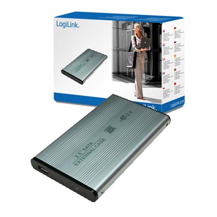 "Logilink Enclosure 2.5 inch S-ATA HDD USB 2.0 Alu 2.5"", SATA, USB 2.0"