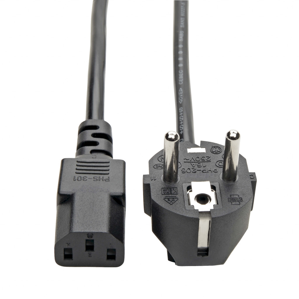 Tripp Lite PDU Power Cord P054-006 C13 to Schuko, 10A, 250V, 17AWG, 1.83m