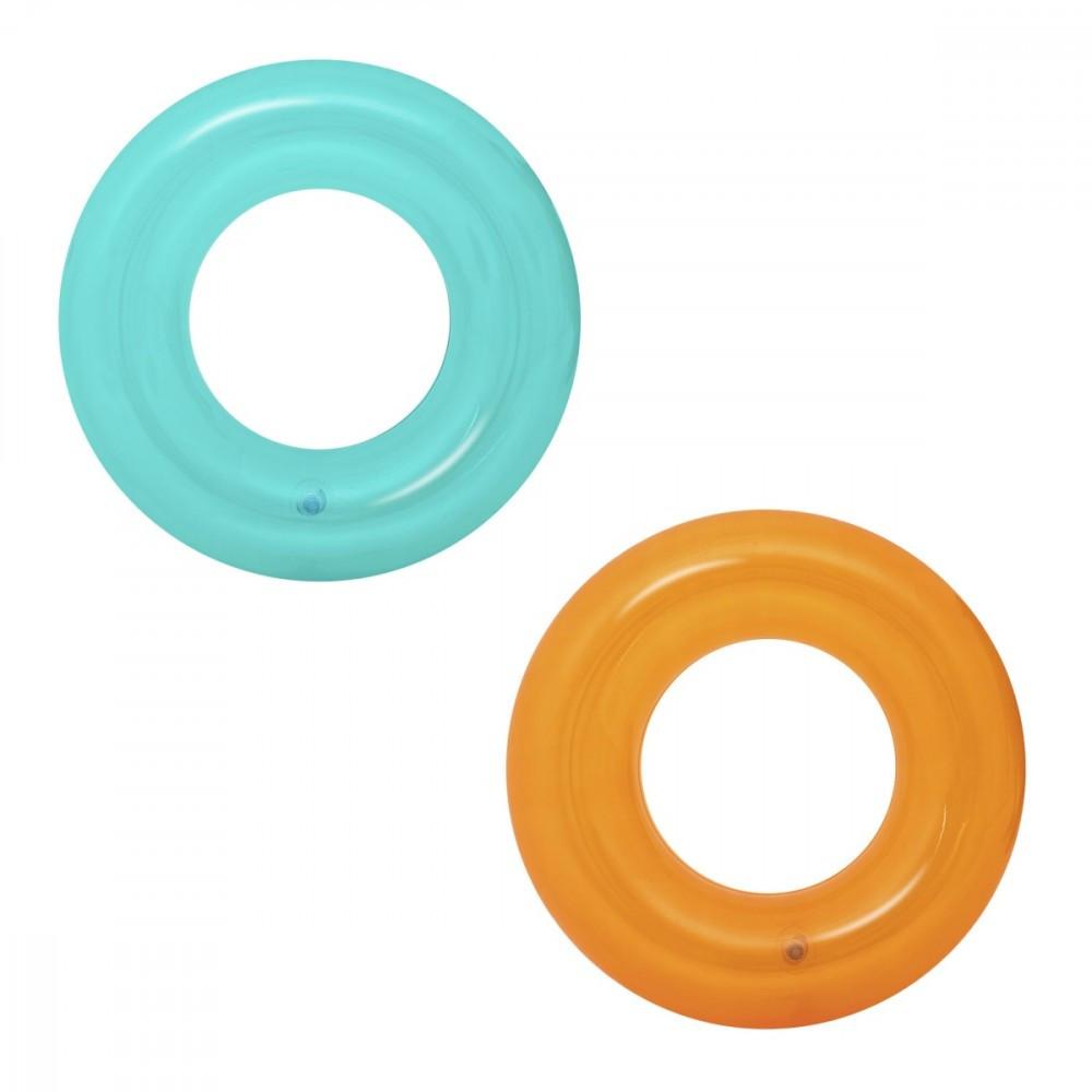 BESTWAY Transparent swim ming ring 51cm