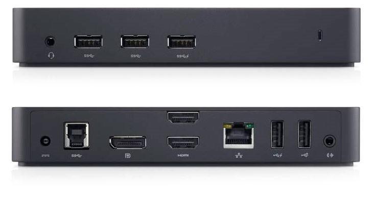 DELL 452-BBOT sülearvuti dokk ja pordireplikaator Juhtmega ühendatud USB 3.2 Gen 1 (3.1 Gen 1) Type-B Must
