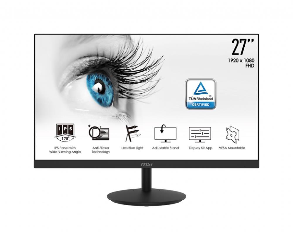 "MSI Pro MP271 68,6 cm (27"") 1920 x 1080 pikslit Full HD LED Must"