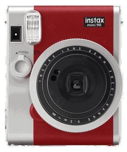 CAMERA INSTANT W/10SH GLOSSY/INSTAX MINI 90 RED FUJIFILM