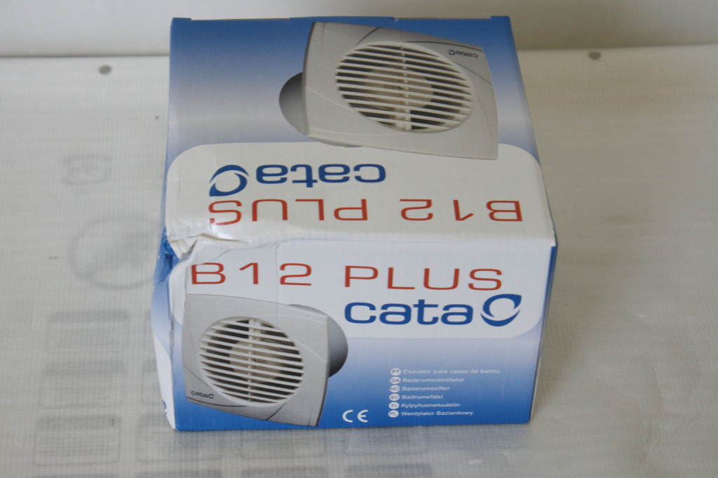SALE OUT. CATA B-12 PLUS  Diameter 120 mm, Suction capacity 190 m³/h, Power consumption (max) 20 W, White, DAMAGED PACKAGING