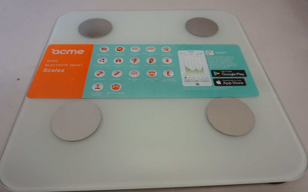 SALE OUT. ACME SC103 Smart Scale - White Acme Smart Scale SC103 Maximum weight (capacity) 180 kg, Body Mass Index (BMI) measuring, White, DEMO