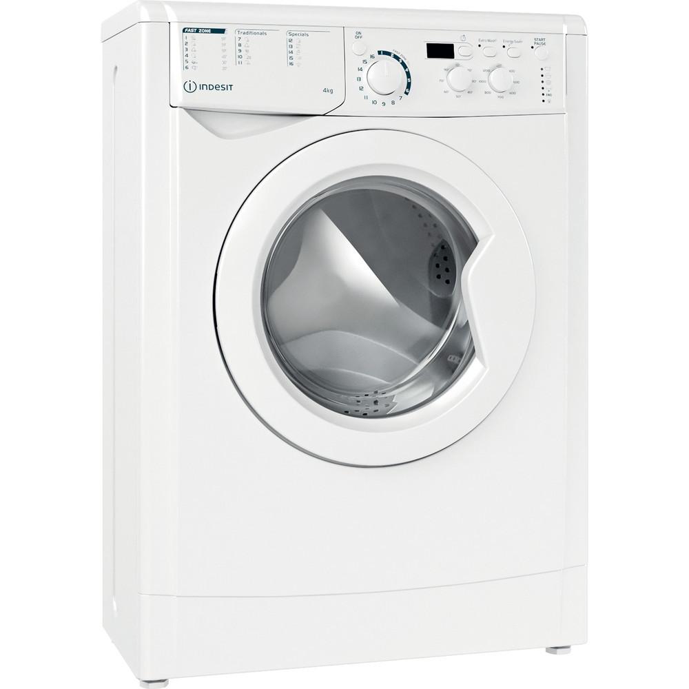 INDESIT Washing machine EWUD 41051 W EU N Energy efficiency class F, Front loading, Washing capacity 4 kg, 1100 RPM, Depth 32.3 cm, Width 59.5 cm, Display, Small digit, White