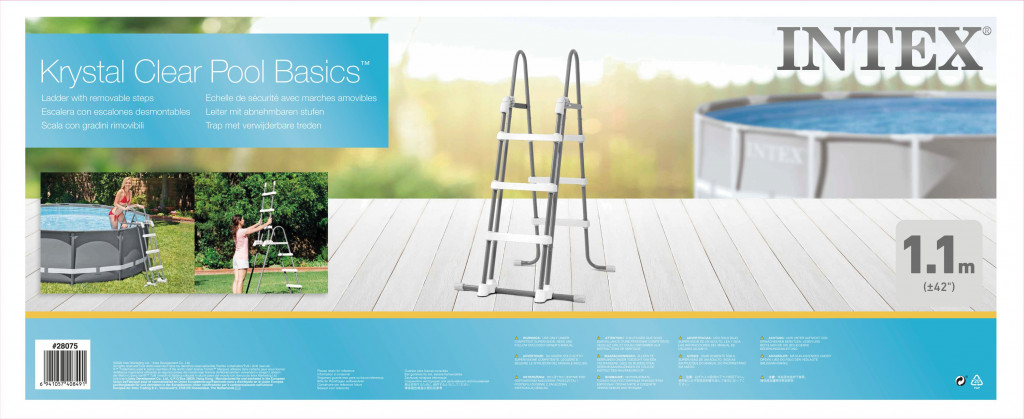 Intex Pool Ladder with Removable Steps 110 cm