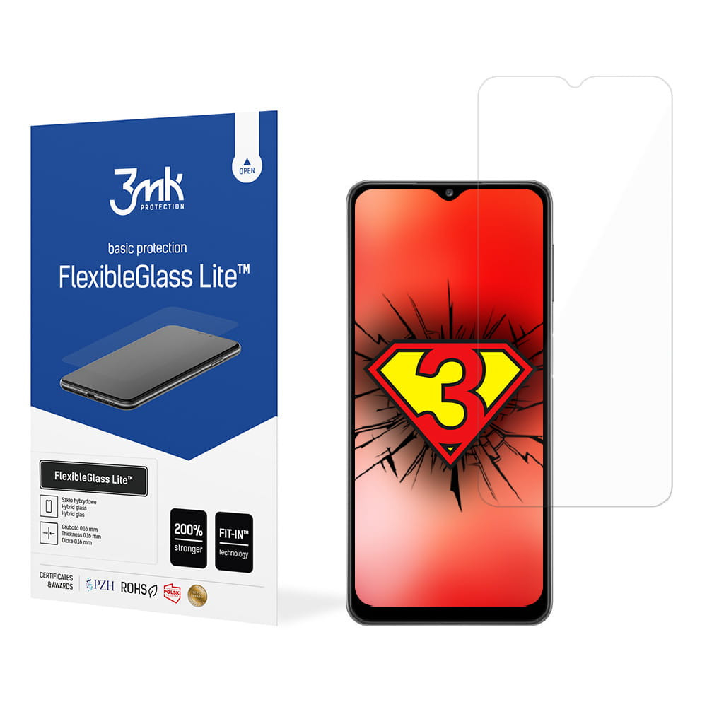 3MK Samsung Galaxy A22 4G FG Lite Non-cracking structure. Screen amplification up to 200%. Only 0.16 mm thick. Easy assembly