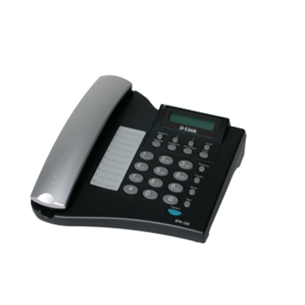 D-LINK DPH-120S, VoIP Phone, Support Call Control Protocol SIP, P2P connections, 2- 10/100BASE-TX Fast Ethernet, Acoustic echo cancellation(G.167), QoS IEEE 802.1Q & IEEE 802.1p Compliant and DiffServ(DSCP), Full range VLAN ID Support, Class of Service Support by VLAN Tag, Adjustable speaker / ringer volume control, LCD display, Call Supplementary
