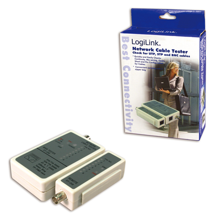 Logilink Cable tester for RJ45 and BNC with remote unit