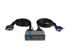 D-Link KVM-221 2-Port USB KVM Switch with Audio Support KVM(Keyboard/Video/Mouse) Switch, VGA, feeds from ports W, Warranty 24 month(s)