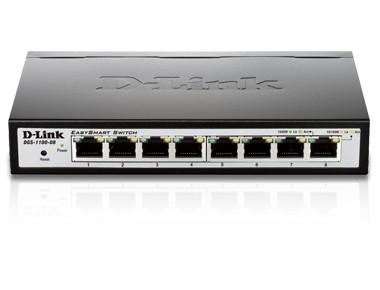 D-Link DGS-1100-08 võrgulüliti Juhitav L2 Gigabit Ethernet (10/100/1000) Must