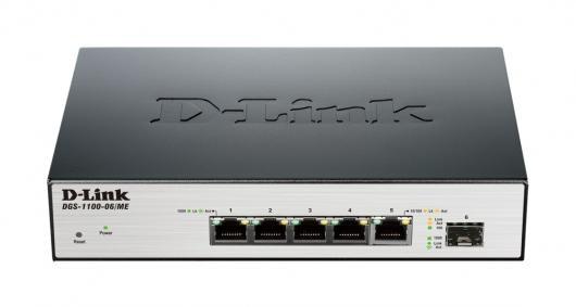 D-Link DGS-1100-06/ME võrgulüliti Juhitav L2 Must