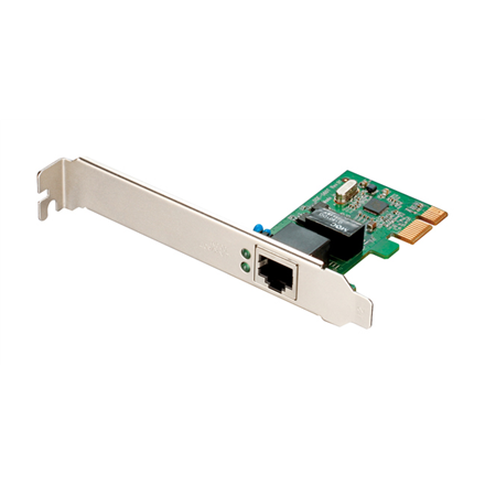 D-LINK DGE-560T, (Bulk) Managed Gigabit PCI-Express NIC, 1-port 100/1000 Mbps UTP with RJ-45 connector, (IEEE802.3ab), Full-Duplex, X1 PCI Express Serial Link, 802.3x Flow Control, 802.1Q VLAN tagging, 802.1p Layer 2, Priority Encoding, SNMP v1 Support, Wake-On-LAN and ACPI 2.0, Diagnostic Utility for Windows, Jumbo frame 9K Bytes, Windows XP 32/64