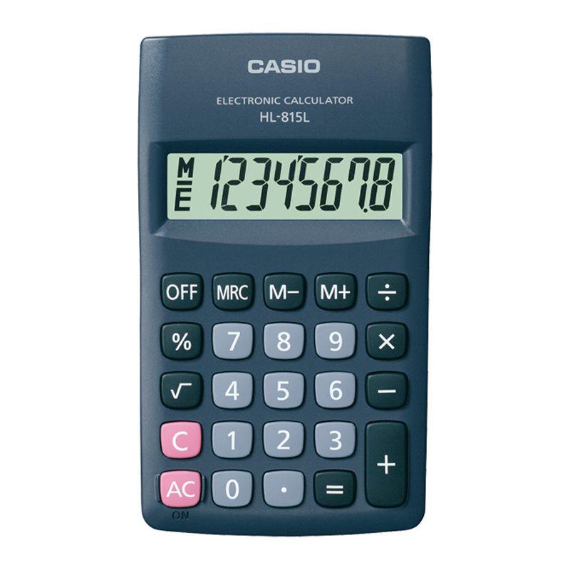 Kalkulaator CASIO HL-815L, 69.5 x 118 x 18 mm, must
