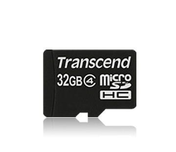 MEMORY MICRO SDHC 32GB/CLASS4 TS32GUSDC4 TRANSCEND