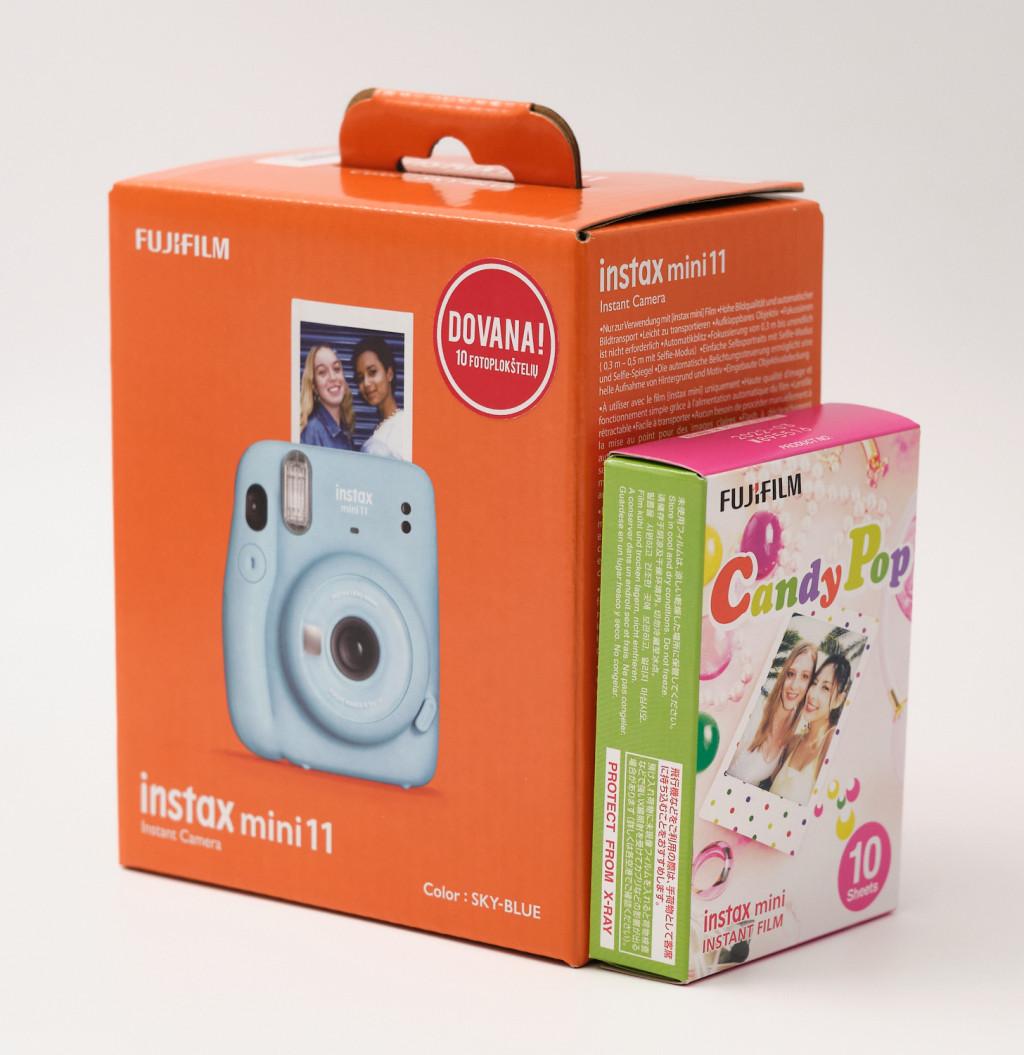 Fujifilm Instax Mini 11 Camera + Instax Mini Glossy (10pl) Focus 0.3 m - ∞, Sky Blue