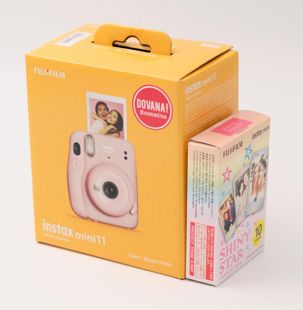 Fujifilm Instax Mini 11 Camera + Instax Mini Glossy (10pl) Focus 0.3 m - ∞, Blush Pink