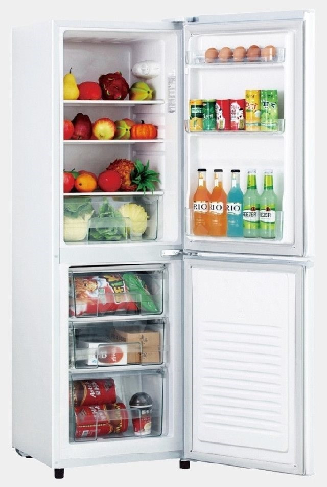 Goddess Refrigerator GODRCD0150GW8AF Energy efficiency class F, Free standing, Combi, Height 149 cm, Fridge net capacity 96 L, Freezer net capacity 53 L, 40 dB, White