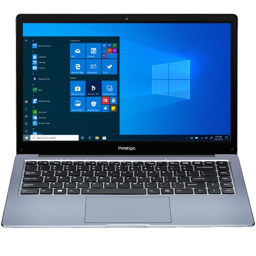 "Prestigio SmartBook 133 C4, 14.1""(1366*768) TN, Windows 10 Pro, up to 2.2GHz DC AMD A4-9120e, 4/64GB, BT 4.2, WiFi 802.11ac, USB 3.0, USB 2.0, USB Type-C, HDD 2.5"" slot, MicroSD card slot, mini HDMI, 0.3MP cam, EN+RU kbd, 7.4V@4800mAh bat, Dark grey"