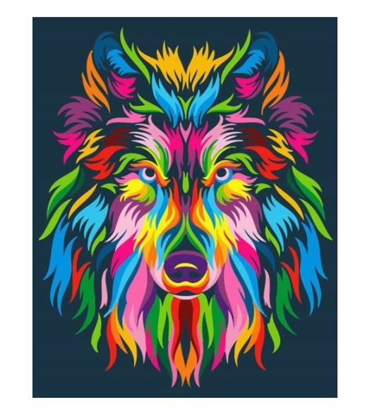 Painting by numbers - Wolf