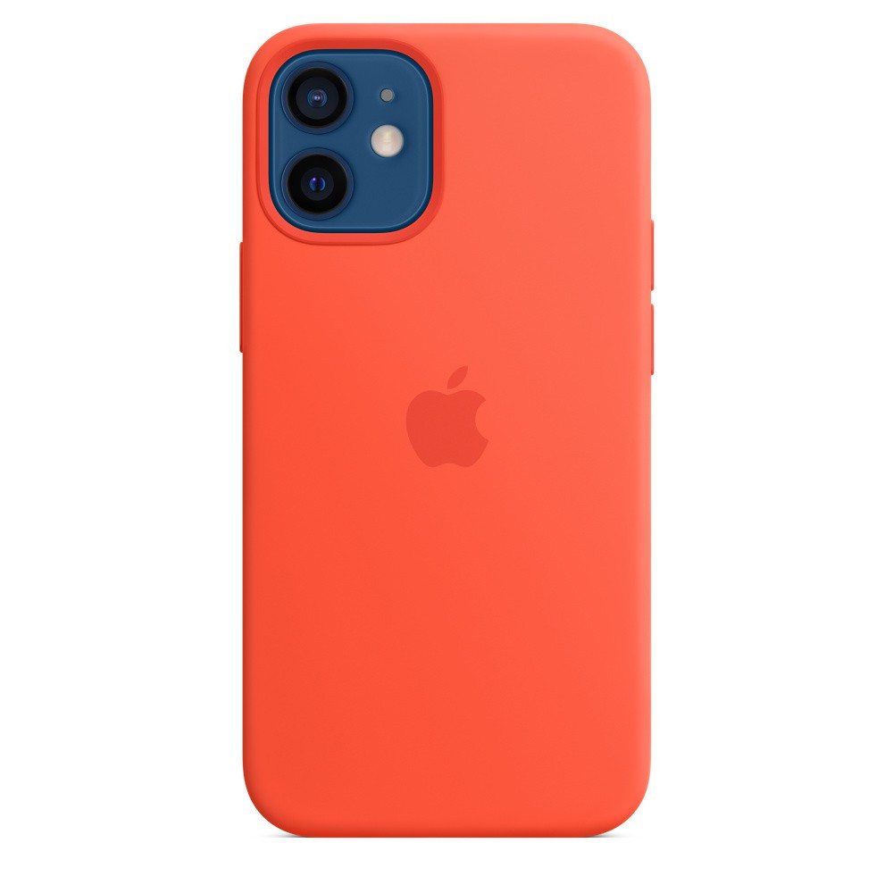 iPhone 12 mini Silicone Case with MagSafe - electric orange