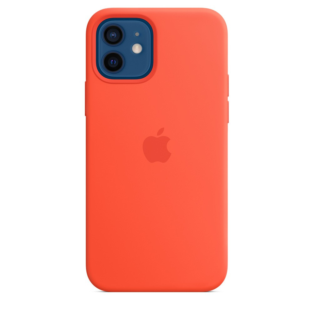 iPhone 12 | 12 Pro Silicone Case with MagSafe - Electric Orange