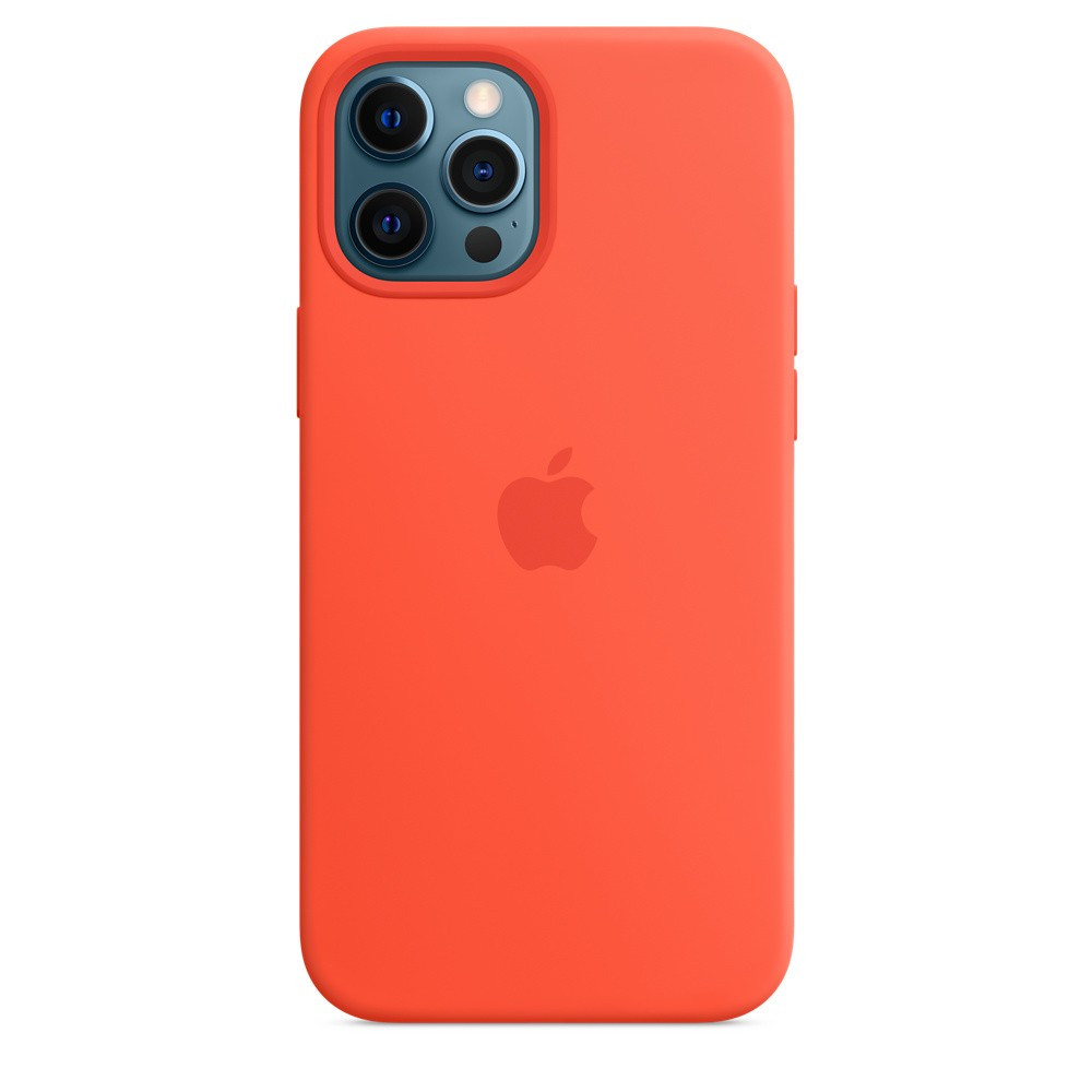 iPhone 12 Pro Max Silicone Case with MagSafe - Electric Orange