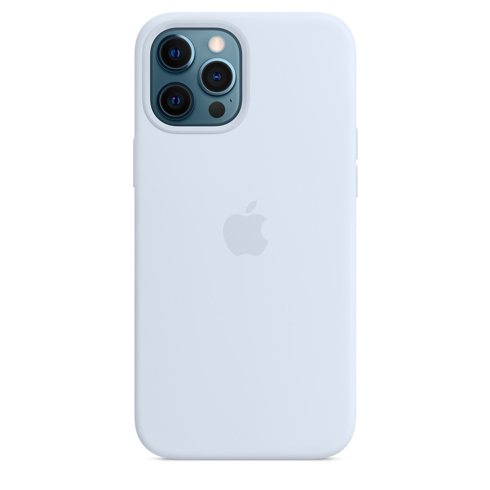 iPhone 12 Pro Max Silicone Case with MagSafe - Cloud Blue