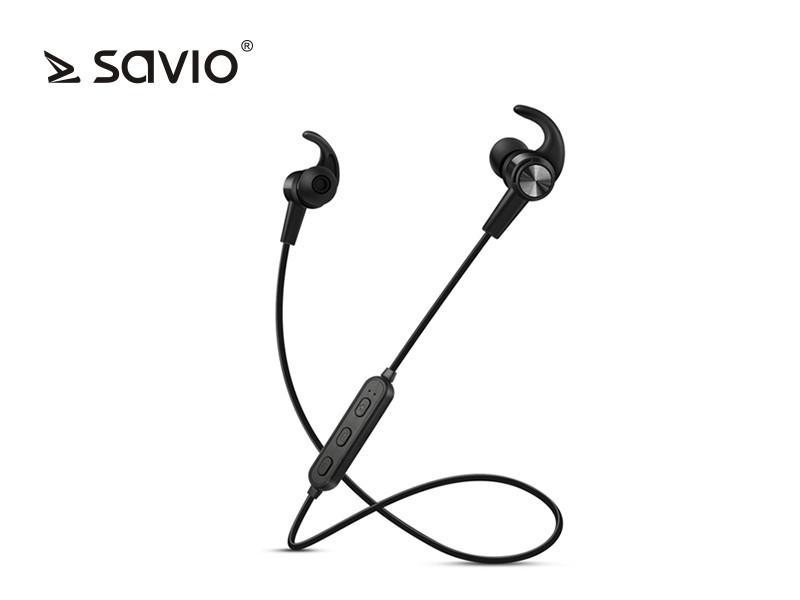 Wireless Bluetooth Earphones Savio WE-02 with microphone