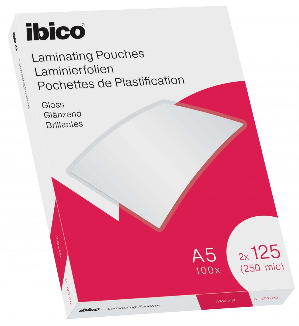 Lamineerimistaskud Ibico A5 125M.Gloss/100