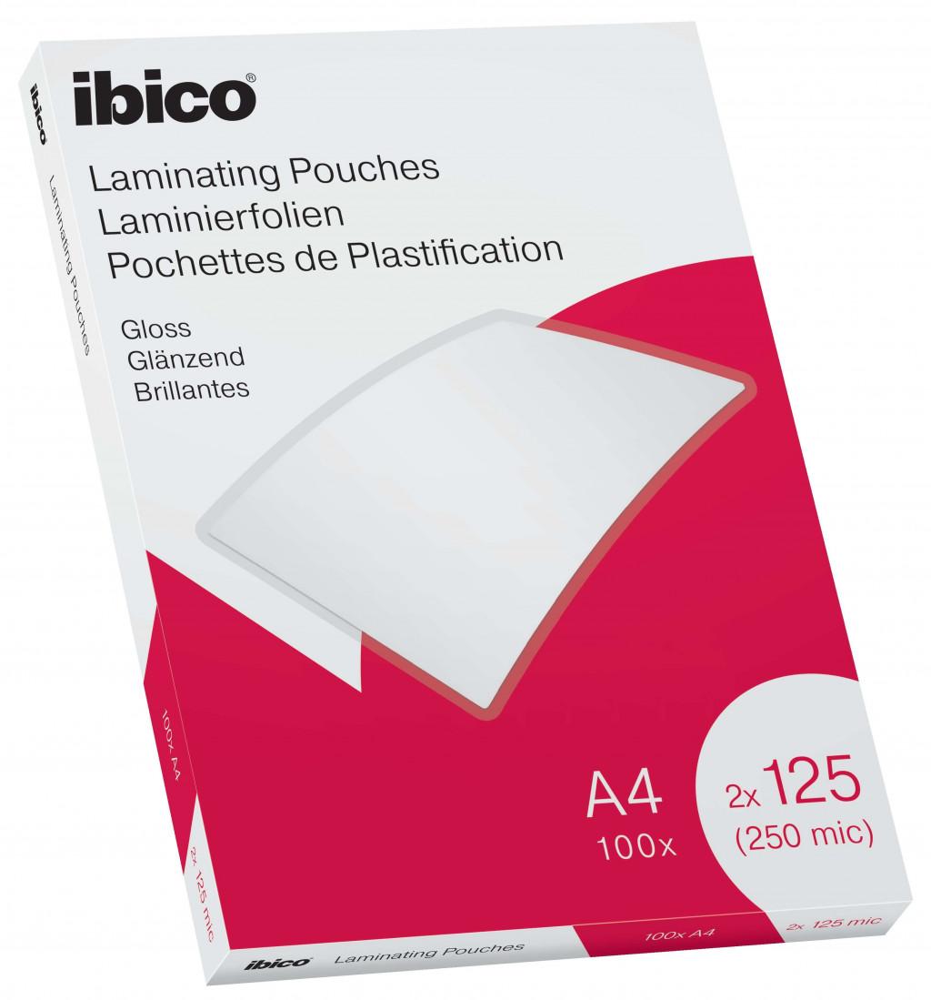 Lamineerimistaskud Ibico A4 125M.Gloss/100