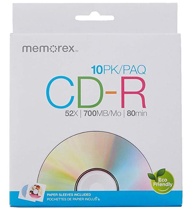 MEMOREX CD-R 700MB 52X ENVELOPE, pakk (10 tükk) [56996]