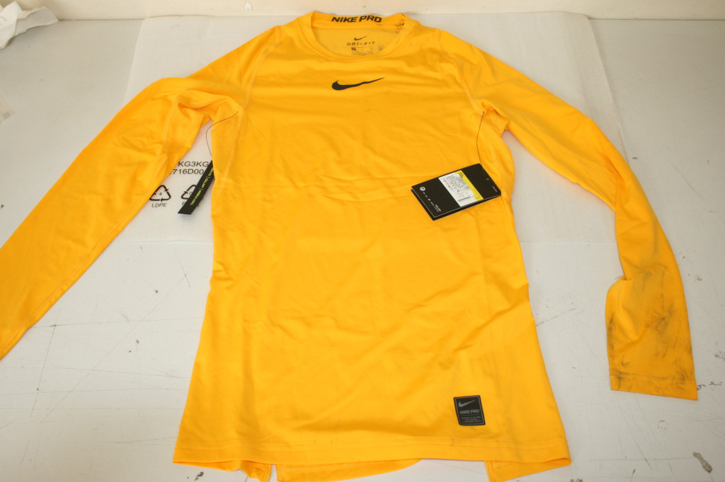 SALE OUT. Nike PRO Top Crew LS, T-Shirt A Manica Lunga Uomo Sourcing DIRTY