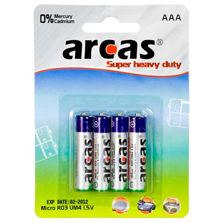 Arcas AAA/R03, Super Heavy Duty, 4 pc(s)