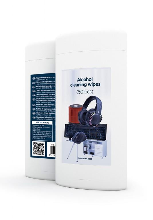 CLEANING WIPES 50PCS/CK-AWW50-01 GEMBIRD