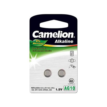 Camelion AG10/LR54/LR1131/389, Alkaline Buttoncell, 2 pc(s)