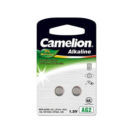 Camelion AG2/LR59/LR726/396, Alkaline Buttoncell, 2 pc(s)