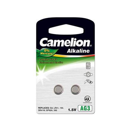 Camelion AG3/LR41/LR736/392, Alkaline Buttoncell, 2 pc(s)