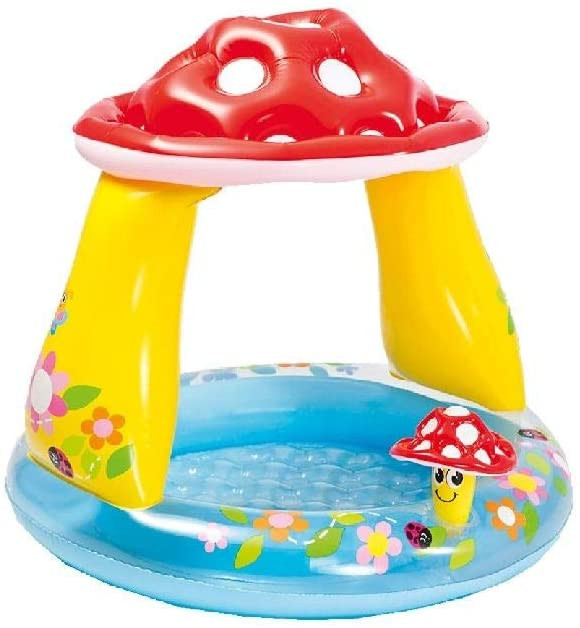 Intex Mushroom Baby Pool Round, Multicolor, Age 1+, 89 x 102 x 30 cm
