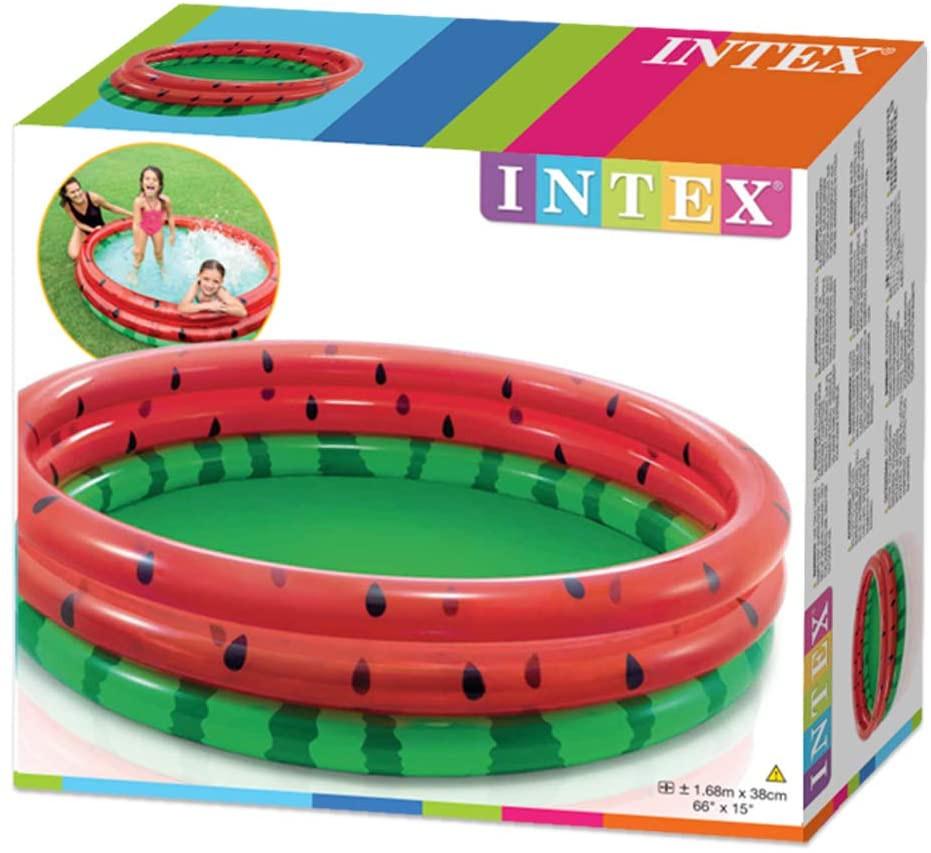 Intex Watermelon Pool Round, Multi Colour, 168 x 38cm, Age 2+