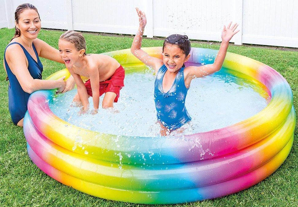 Intex Rainbow Ombre Pool Multi Color, 168 x 38cm, Age 2+