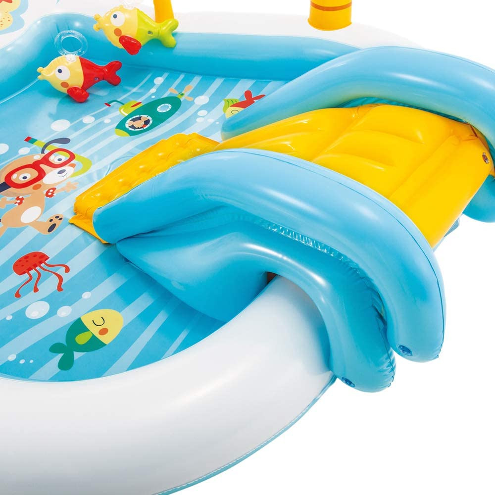 Intex Fishing Fun Water Play Centre Rectangular, Multi Colour,  Age 3+, 188 x 218 x 99 cm