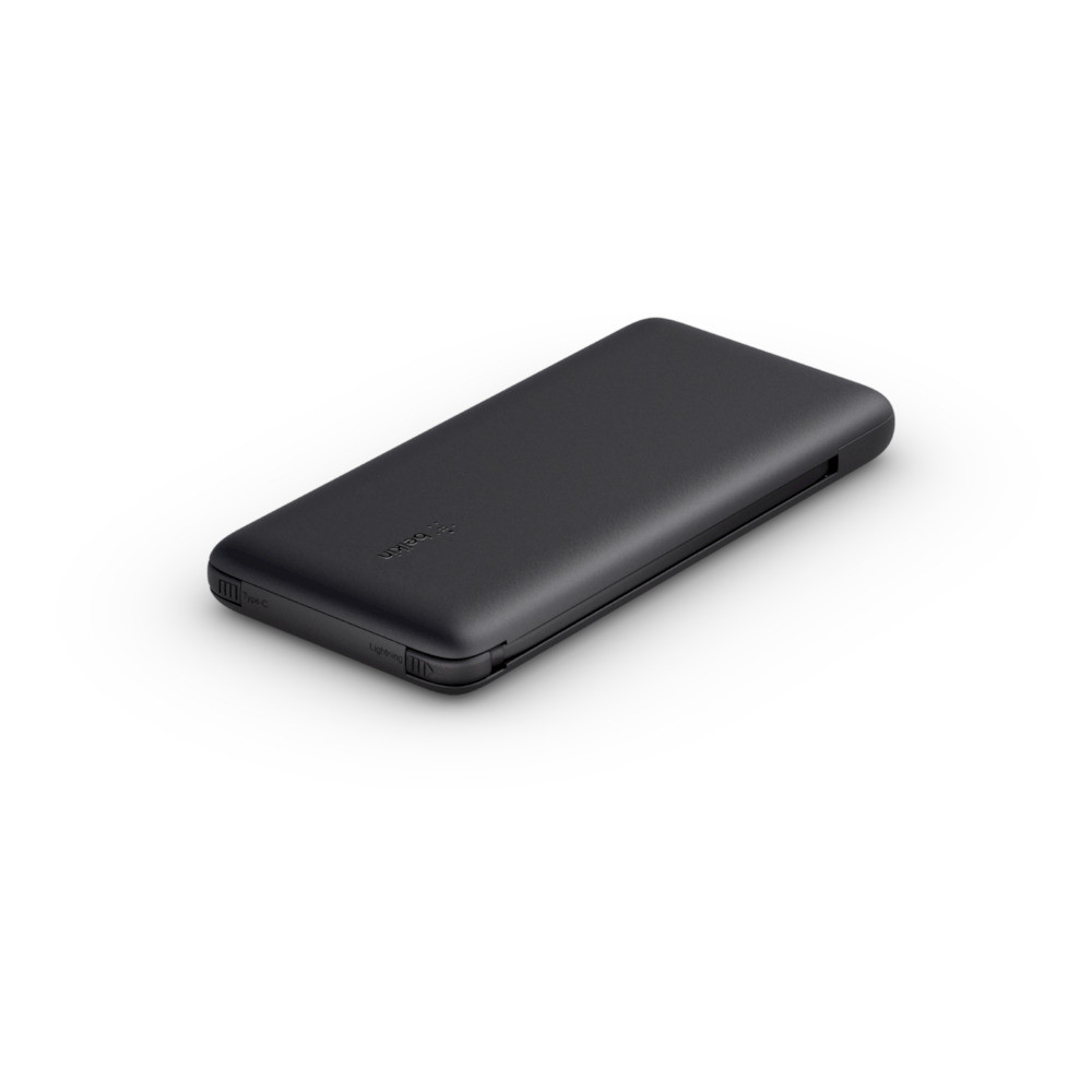 Belkin BOOST CHARGE Plus Power Bank 10000 mAh, Integrated LTG and USB-C cables, Black, 18 W