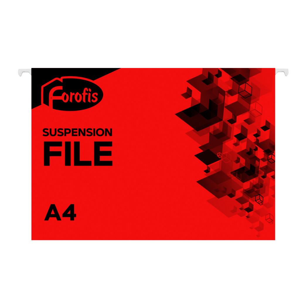 Rippkaaned A4 FOROFIS, 200g/m2, punane