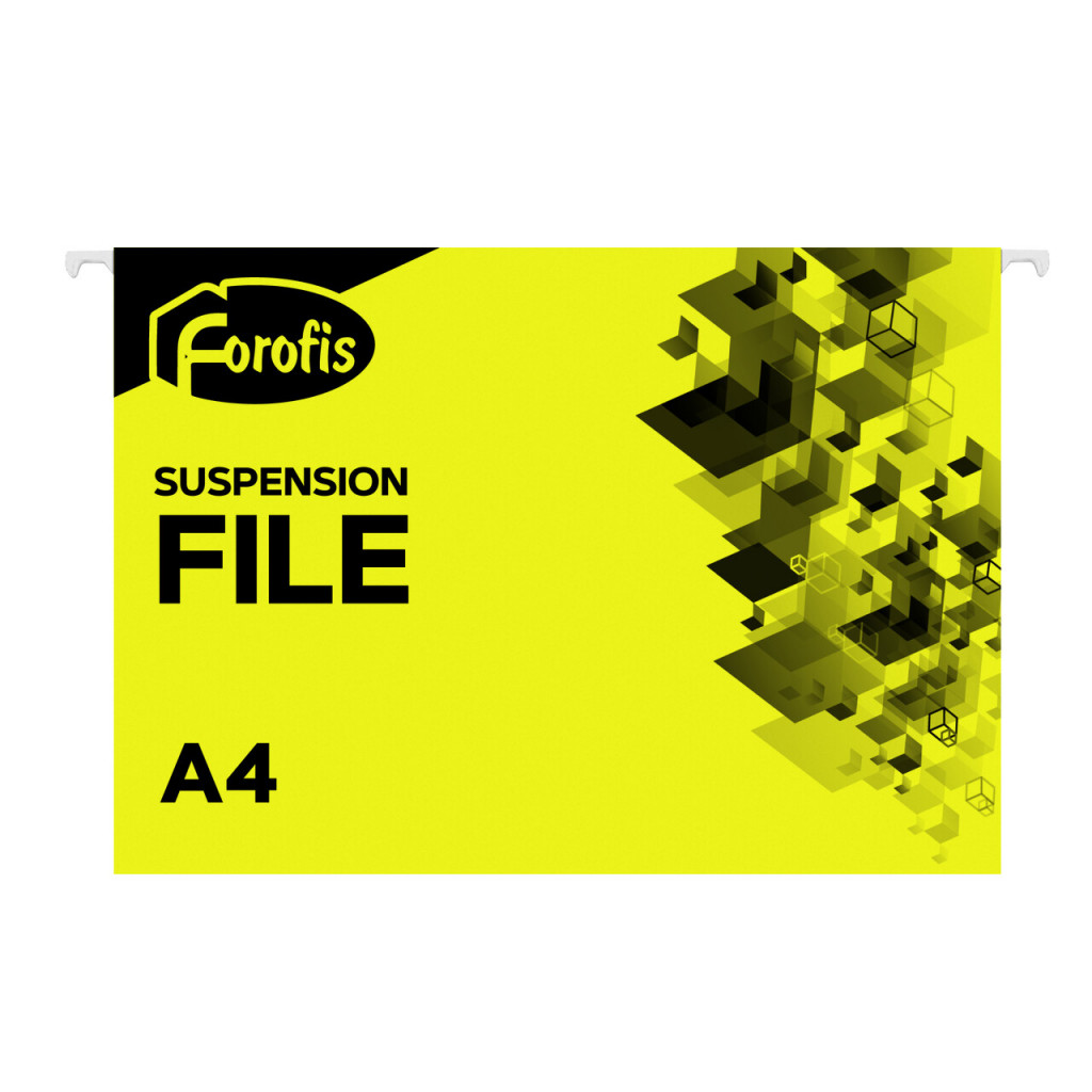 Rippkaaned A4 FOROFIS, 200g/m2, kollane