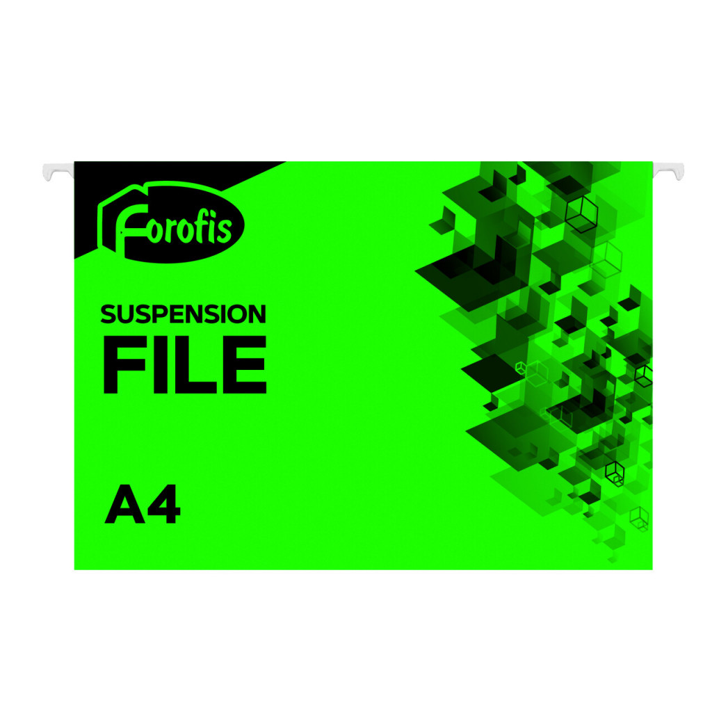 Rippkaaned A4 FOROFIS, 200g/m2, roheline