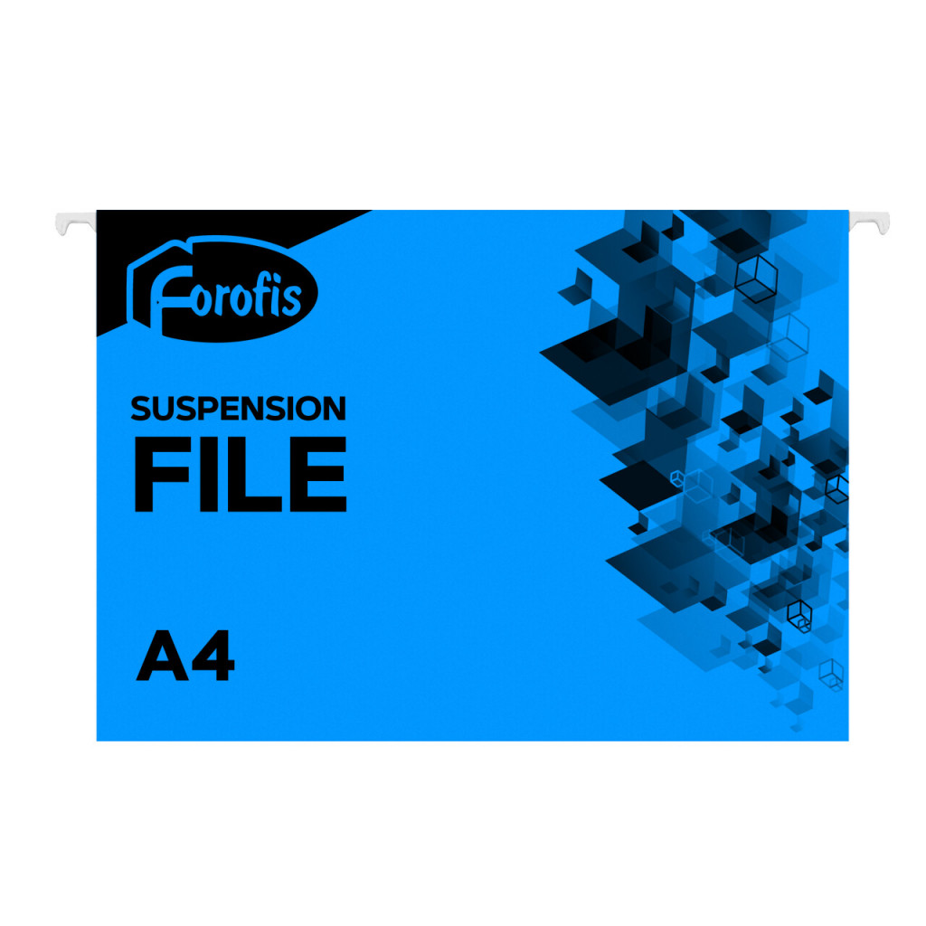 Rippkaaned A4 FOROFIS, 200g/m2, sinine