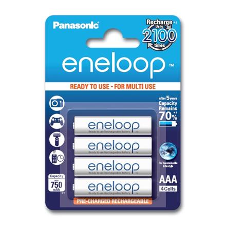 Panasonic eneloop AAA/HR03, 750 mAh, Rechargeable Batteries Ni-MH, 4 pc(s)