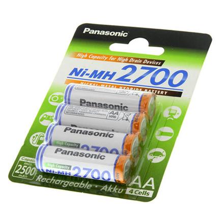 Panasonic AA/HR6, 2450 mAh, Rechargeable Batteries Ni-MH