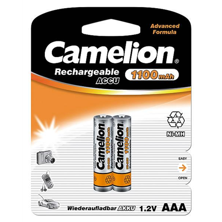 Camelion AAA/HR03, 1100 mAh, Rechargeable Batteries Ni-MH, 2 pc(s)